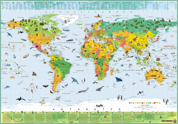Columbus Terra Kinder Weltkarte