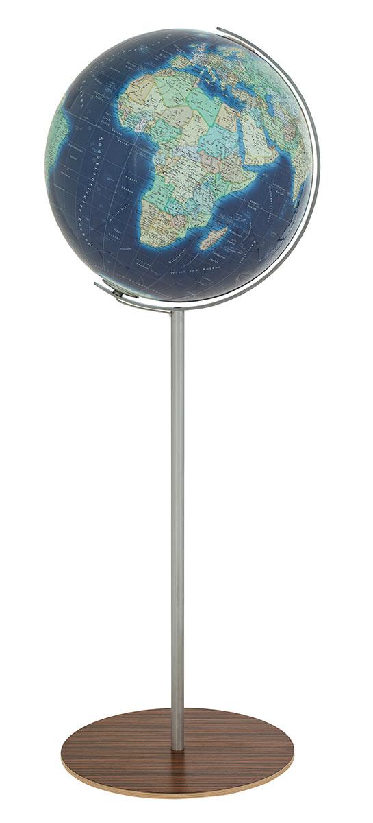 Columbus duo azzurro floor globe 40 cm 16 inch for 10 inch reflector floor lamp globe glass