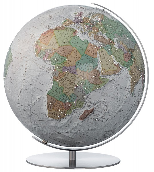 Columbus Duo Alba desk globe with Swarovski Zirkonia