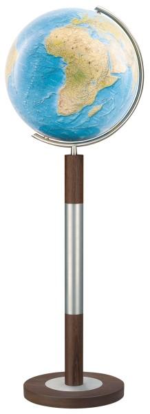Standglobus Columbus Duorama - Ø 40 cm, Edelholz Standfuß