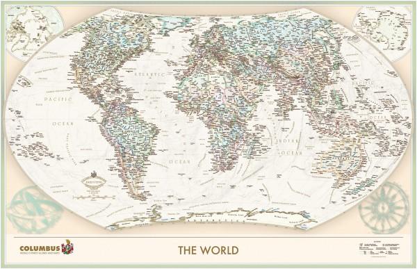 The World Executive - politische Weltkarte Englisch