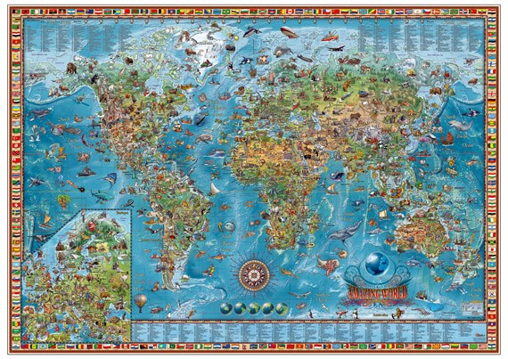 Ray & Co. Amazing World Map