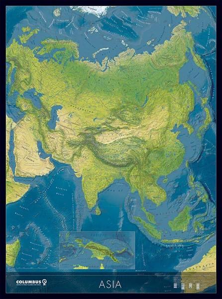 Columbus Kontinentkarte Asien