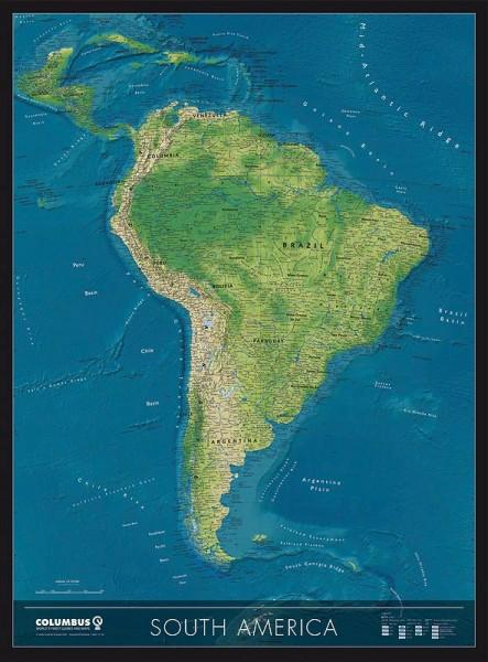 Columbus Kontinentkarte Süd-Amerika
