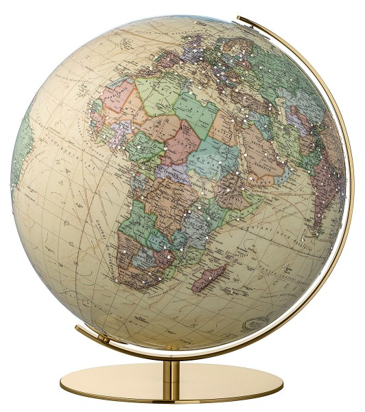 Columbus Royal desk globe with Swarovski Zirkonia - Ø 40 cm