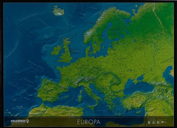 Columbus Kontinentkarte Europa