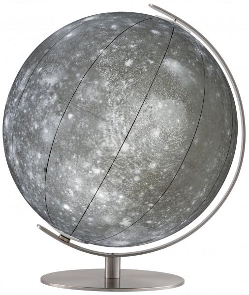 Mondglobus Jupitermond Kallisto Leuchtglobus Ø 34 cm